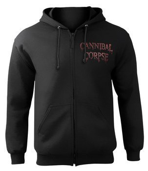 bluza CANNIBAL CORPSE - RED BEFORE BLACK, rozpinana z kapturem