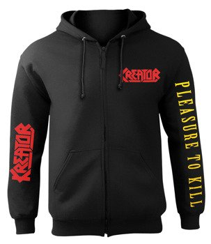 bluza KREATOR - PLEASURE TO KILL, rozpinana z kapturem