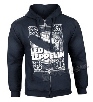 bluza LED ZEPPELIN - YOU SHOOK czarna, rozpinana z kapturem