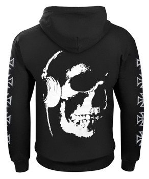 bluza SKULL IN HEADPHONES rozpinana, z kapturem