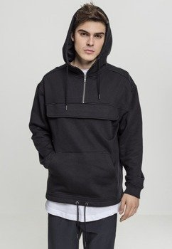 bluza SWEAT PULL OVER HOODY black, kangurka z kapturem