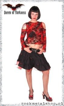 bluzka LACE RED-BLACK