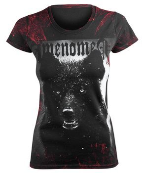 bluzka damska AMENOMEN - BLACK WOLF (OMEN024DA ALLPRINT RED)