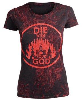 bluzka damska AMENOMEN - DIE WITH YOUR GOD (OMEN071DA ALLPRINT RED)