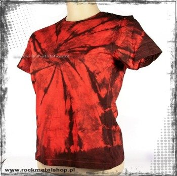 bluzka damska RED / BLACK barwiona