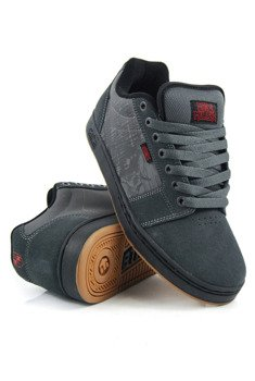 buty METAL MULISHA - ETNIES BARGE XL DARK GREY BLACK RED