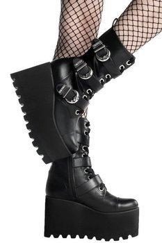 buty damskie na koturnie KILLSTAR - ORACLE