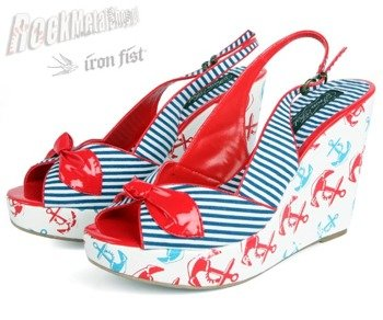 buty na koturnie IRON FIST (Welcome Aboard Wedge)(White)  '09