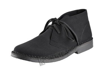 buty zamszowe ALTERCORE czarne 2-dziurkowe (RONY BLACK)