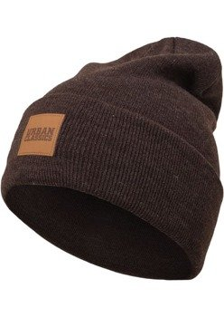 czapka zimowa LEATHERPATCH LONG BEANIE heatherbrown