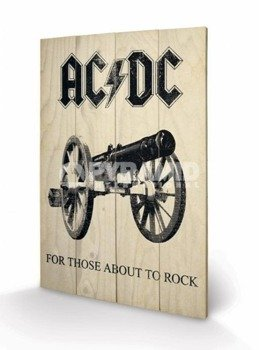 dekoracja/obraz na drewnie AC/DC (FOR THOSE ABOUT TO ROCK)