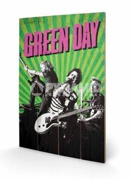 dekoracja/obraz na drewnie GREEN DAY (UNO! DOS! TRE!)