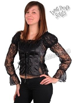 gorset top LIVING DEAD SOULS (BLACK)