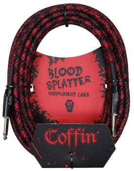 "kabel do gitary COFFIN ""BLOOD SPLATTER"" CF-ICBS20 / jack prosty / 6m"