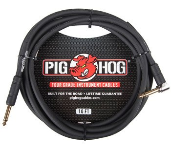 kabel do gitary PIG HOG PH10R jack kątowy-prosty, 3m