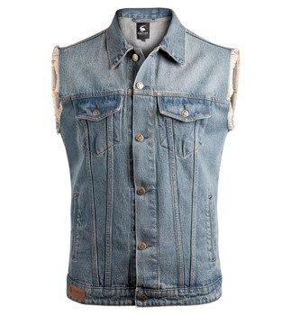 kamizelka DENIM VEST blue jeansowa