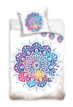 komplet pościelowy MANDALA WHITE, kołdra (160*200) + poduszka (70*80)