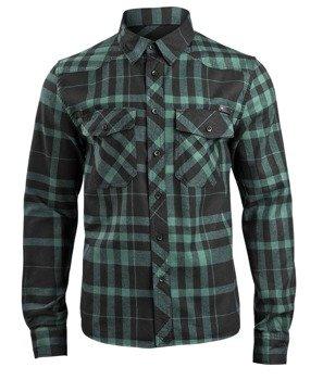 koszula CHECKSHIRT FRED - black/green