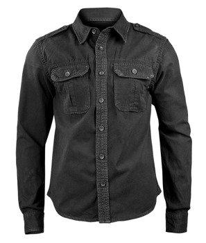 koszula VINTAGE SHIRT LONGSLEEVE black