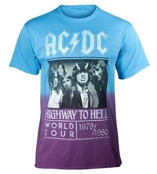 koszulka AC/DC - HIGHWAY TO HELL POSTER, barwiona