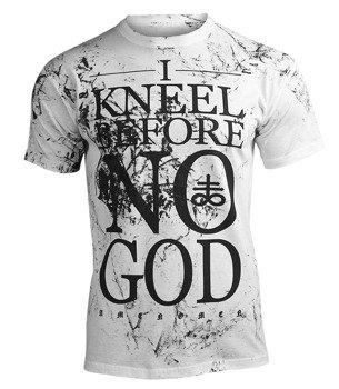 koszulka AMENOMEN - I KNEEL BEFORE NO GOD (OMEN108KM WHITE ALLPRINT BLACK)