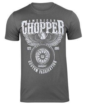 koszulka AMERICAN CHOPPER - CUSTOM FABRICATION ciemnoszara