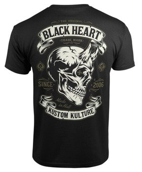 koszulka BLACK HEART - DEVIL SKULL BLACK