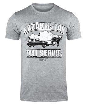 koszulka BORAT - KAZAKHSTAN TAXI SERVICE szara