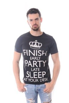 koszulka FINISH EARLY PARTY LATE SLEEP AT YOUR DESK