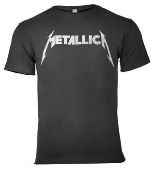 koszulka METALLICA - LOGO ciemnoszara
