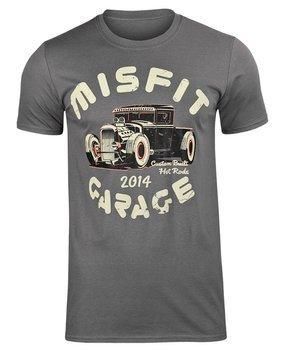 koszulka MISFIT GARAGE - POWER PICK ciemnoszara
