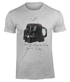 koszulka STAR WARS - I LIKE MY COFFEE ON THE... szary melanż