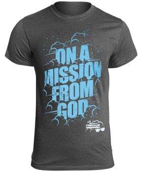 koszulka THE BLUES BROTHERS - ON A MISSION FROM GOD szary melanż
