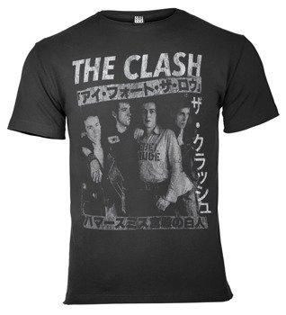 koszulka THE CLASH - TOUR POSTER ciemnoszara