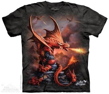 koszulka THE MOUNTAIN - FIRE DRAGON, barwiona