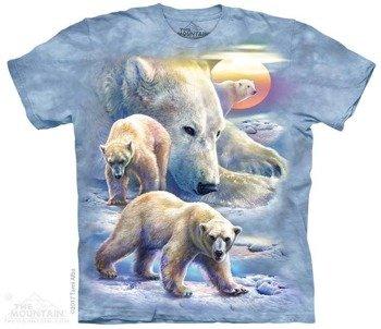 koszulka THE MOUNTAIN - SUNRISE POLAR BEAR COLLAGE, barwiona
