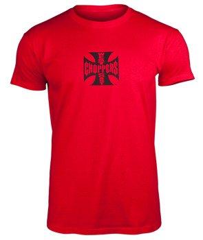 koszulka WEST COAST CHOPPERS - IRON CROSS ATX RED BLACK