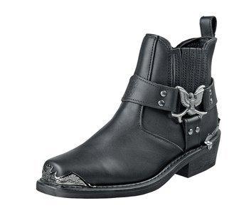 kowbojki GRINDERS - EAGLE LO (BLACK)