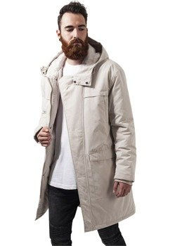 kurtka COTTON PEACHED CANVAS PARKA sand