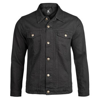 kurtka DENIM JACKET black jeansowa