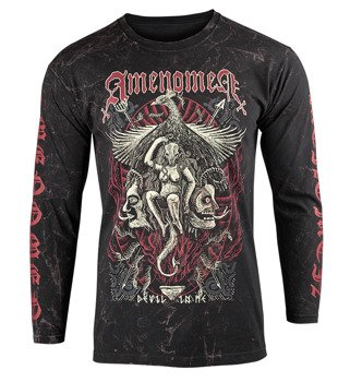 longsleeve AMENOMEN - DEVIL IN ME (OMEN150LO ALLPRINT BROWN)