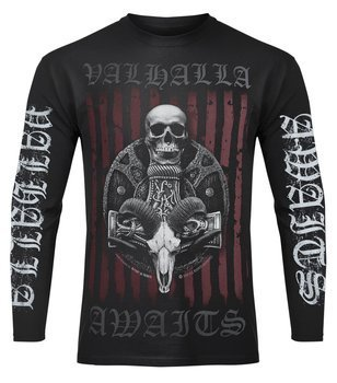 longsleeve VICTORY OR VALHALLA - VIKING SHIELD