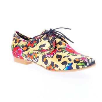 mokasyny damskie IRON FIST - LOUNGE LEOPARD OXFORD