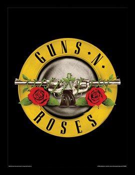 obraz w ramie GUNS N' ROSES - BULLET LOGO