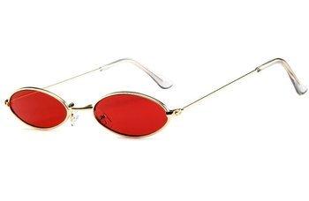 okulary LENONKI STEAMPUNK ŁEZKI RED