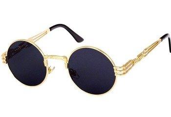 okulary LENONKI STEAMPUNK RETRO GOLD BLACK