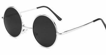 okulary LENONKI (czarne srebrne ramki)