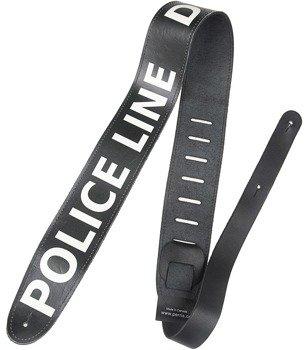 pas do gitary POLICE LINE DO NOT CROSS skórzany, 63 mm