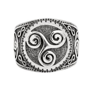 pierścień TRISCEL,srebro 925