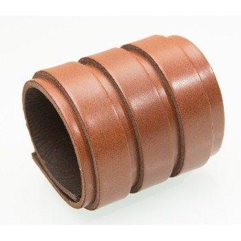 pieszczocha GŁADKA - TRZY PASKI BROWN, skóra naturalna gruba